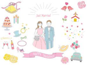 岡崎豊田婚活結婚相談所で知り合った男女の結婚式イメージ画像